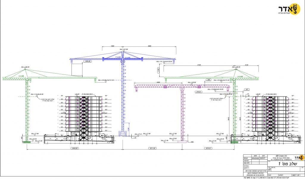 תכנון אתרי בנייה, ייעוץ הנדסי, עגורנים באתרי בנייה